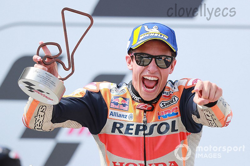 Marc Márquez ได้รับรางวัล 2010 125cc แชมป์โลก ,2012 Moto2 แชมป์โลก,และ2013 , 2014 , 2016 , 2017 , 2018และ2019 MotoGP World Championships